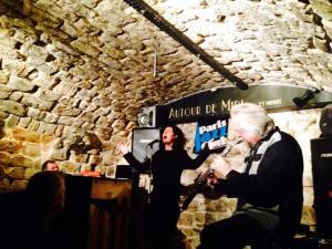 avec Sébastien Paindestre et David Schroeder, club de jazz Autour de midi à minuit, 2014